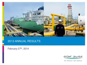 2013 ANNUAL RESULTS. February 27 th, 2014