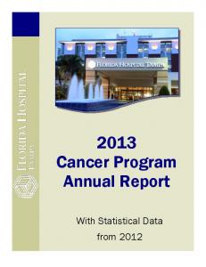 2013 Cancer Program Annual Report