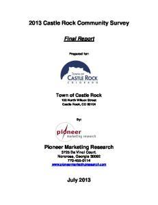 2013 Castle Rock Community Survey