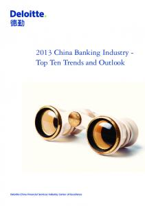 2013 China Banking Industry - Top Ten Trends and Outlook