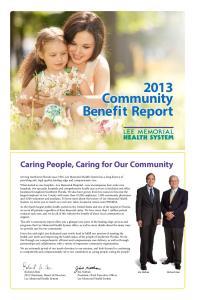 2013 Community Benefit Report