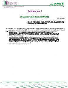 2013 Curso de 9 meses. Página 1 de 10