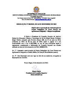 2013, DE 16 DE DEZEMBRO DE 2013