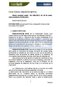 2013, de 28 de junio, sobre productos fertilizantes