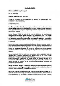 2013 del Registro del MINISTERIO DEL INTERIOR Y TRANSPORTE, y