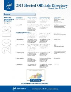 2013 Elected Officials Directory
