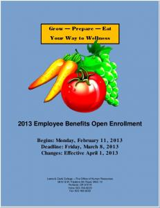 2013 Employee Benefits Open Enrollment