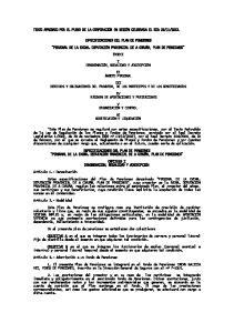 2013. ESPECIFICACIONES DEL PLAN DE PENSIONES