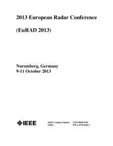 2013 European Radar Conference