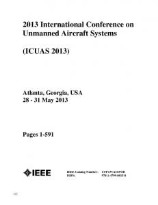 2013 International Conference on Unmanned Aircraft Systems