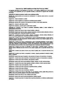 2013 Las siguientes actividades se han identificado con las claves y en los