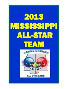 2013 MISSISSIPPI ALL-STAR TEAM