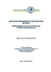 2013 Mitgliedergewinnung und -bindung als zentrale Herausforderung