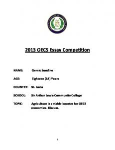 2013 OECS Essay Competition
