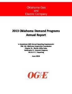 2013 Oklahoma Demand Programs Annual Report