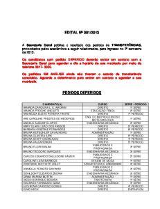 2013 PEDIDOS DEFERIDOS