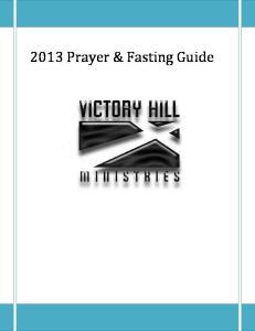 2013 Prayer & Fasting Guide