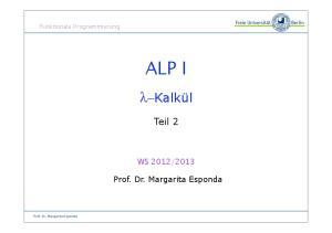 2013. Prof. Dr. Margarita Esponda. Prof. Dr. Margarita Esponda