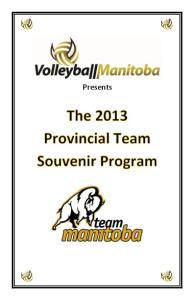 2013 Provincial Team Souvenir Program