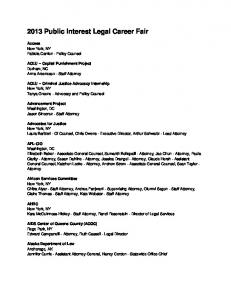 2013 Public Interest Legal Career Fair