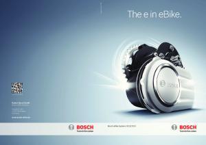 2013. Robert Bosch GmbH Bosch ebike Systems. Postfach Reutlingen Germany