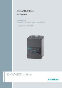 2013. SINAMICS drives