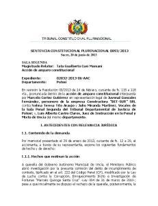 2013 Sucre, 20 de junio de 2013