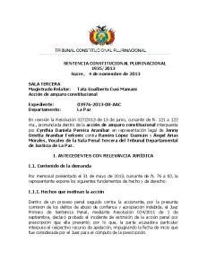 2013 Sucre, 4 de noviembre de 2013