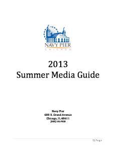 2013 Summer Media Guide