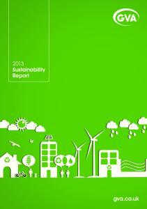 2013 Sustainability Report. gva.co.uk