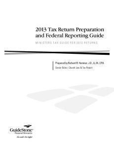 2013 Tax Return Preparation