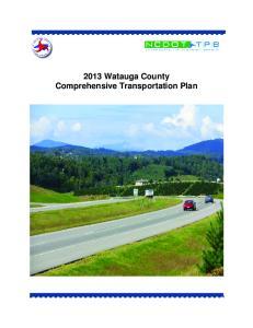 2013 Watauga County Comprehensive Transportation Plan