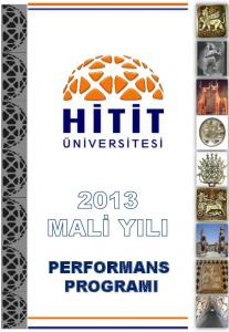 2013 YILI PERFORMANS PROGRAMI