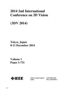 2014 2nd International Conference on 3D Vision