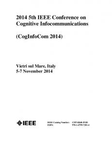 2014 5th IEEE Conference on Cognitive Infocommunications