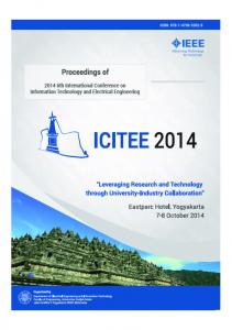 2014 6th International Conference on Information Technology and Electrical Engineering