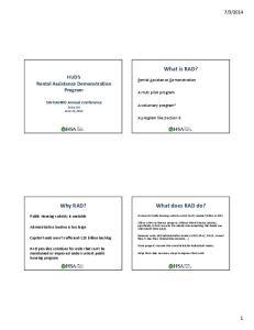 2014. A HUD pilot program