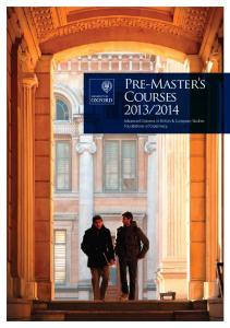 2014. Advanced Diploma in British & European Studies Foundations of Diplomacy