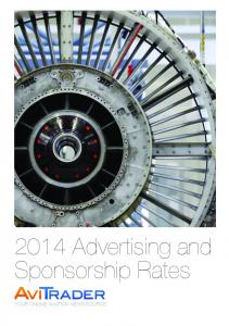 2014 Advertising and Sponsorship Rates YOUR ONLINE AVIATION NEWS SOURCE