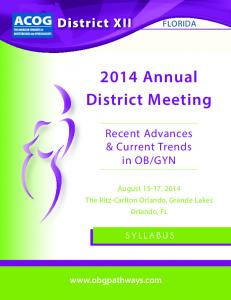 2014 Annual District Meeting