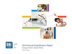 2014 Annual Quantification Report