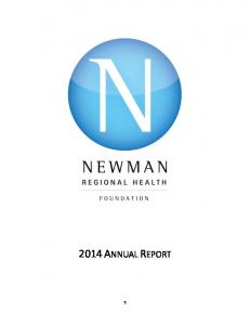 2014 ANNUAL REPORT 1
