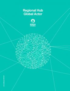 2014 ANNUAL REPORT. Regional Hub Global Actor
