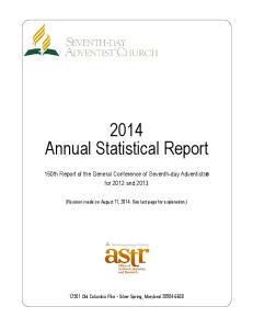 2014 Annual Statistical Report