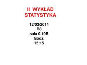 2014 B8 sala 0.10B Godz. 15:15