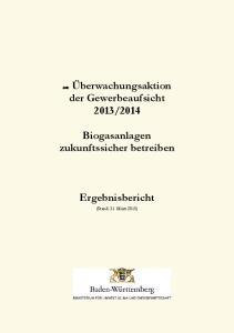 2014. Biogasanlagen zukunftssicher betreiben. Ergebnisbericht