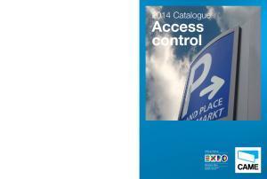 2014 Catalogue. Access control