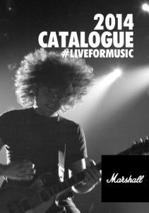 2014 CATALOGUE #LIVEFORMUSIC