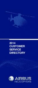 2014 CUSTOMER SERVICE DIRECTORY