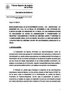 2014, DE 18 DE NOVIEMBRE DE 2014, DEL SECRETARIO DE GOBIERNO DEL T.S.J